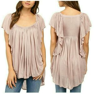 Free People Tops - NWT Free People Mauve Ruffled Top