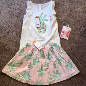 Gymboree Other - Gymboree skirt, tank, and hair clips NWT sz 8
