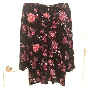 NWOT Free People Floral Tunic Dress Size large