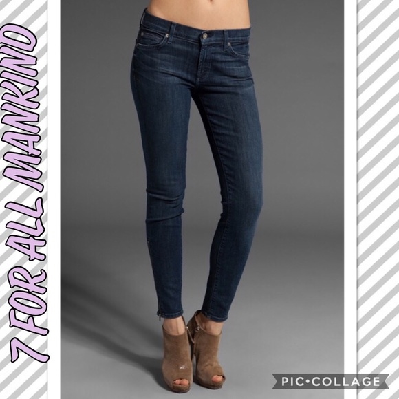 special buy high quality materials huge sale 7 For All Mankind GWENEVERE Ankle Zip Skinny Jeans