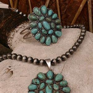  Turquoise Bangle Cuff Bracelet