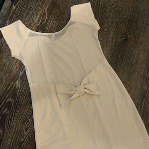 Zinga Dresses & Skirts - FINAL SALE Beige Bow Back Mini Dress