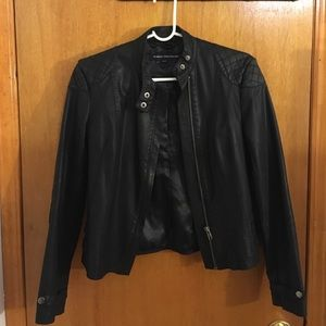 French Connection Jackets & Blazers - French Connection Leather Jacket