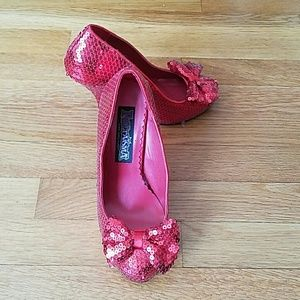 Funtasma Shoes - Red sequined pumps