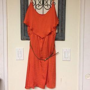 Bisou Bisou Dresses & Skirts - Bisou Bisou Orange Dress