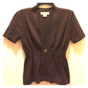 MICHAEL Michael Kors Sweaters - EUC Michael Kors Brown Cardigan Sweater
