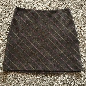 JCrew Wool Mini Skirt