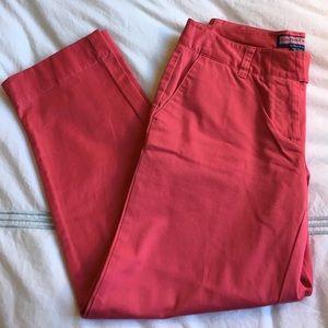 Vineyard Vines Pants - Vineyard Vines pink cotton cropped pants