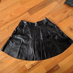 Pants - 🌟SOLD🌟 - Faux Leather A-line Skort