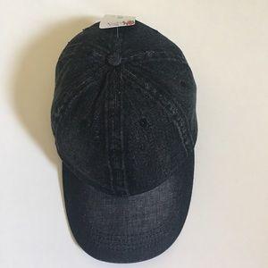 Fashionomics Accessories - Vintage Denim Baseball Cap in Black