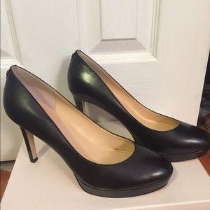 New Ivanka Trump Kimo black leather heels