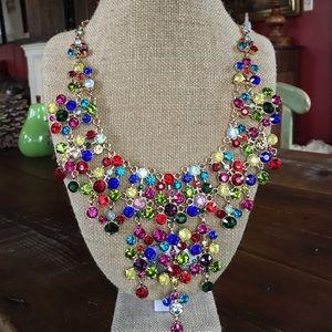 Natasha Jewelry - NWT Natasha Multi Colored Stone Statement Necklace