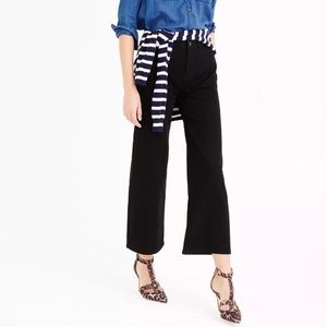 J. Crew Denim - J. Crew $138 wide leg high waist Cropped jeans 27p
