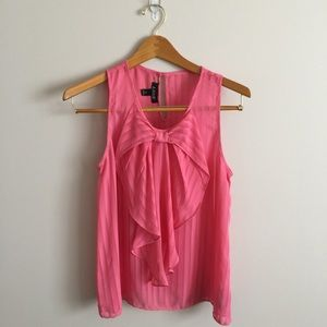 A. Byer Tops - A. Byer Pink Bow Tank Top