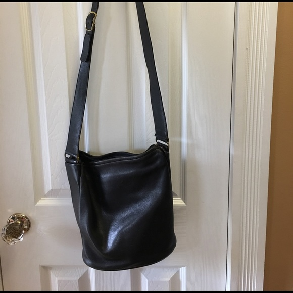 f0c194856 Coach Bags | Vintage Black Leather Bucket Bag | Poshmark