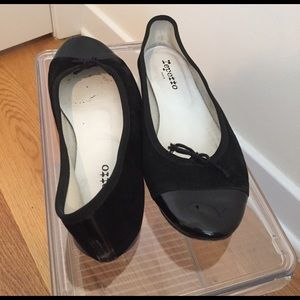 Repetto Shoes - Repetto ballerina flats - suede & patent leather