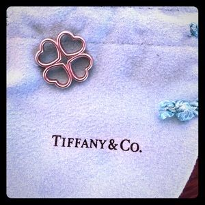 Tiffany & Co. clover heart charm sterling silver