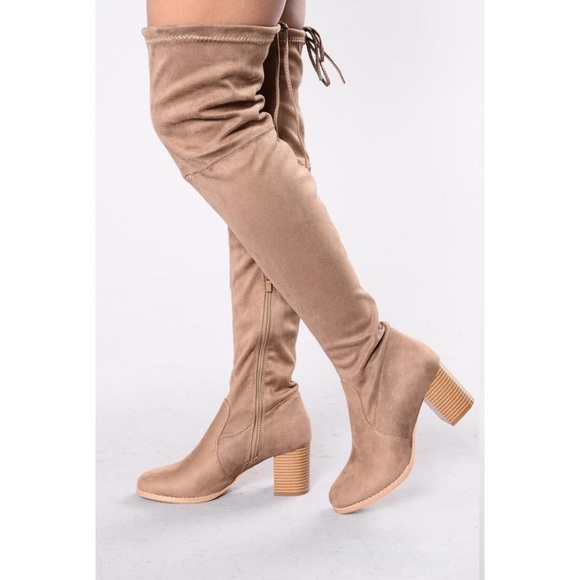 13757527cb8 Fashion nova suede over the knee boot