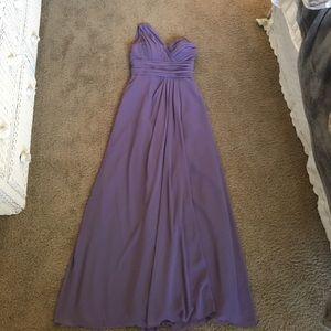 Bill Levkoff Dresses & Skirts - Lilac one-shoulder chiffon floor-length gown