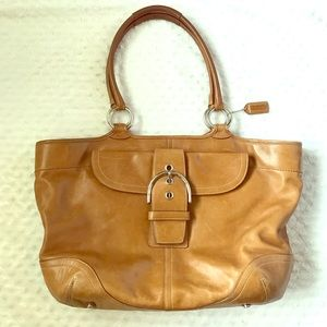 Coach Handbags - COACH 5770 Tan Leather Soho XL Tote Shoulder Bag