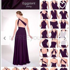 Dresses & Skirts - Long infinity dress EGGPLANT