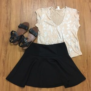 exhilaration Dresses & Skirts - Black Skater Skirt