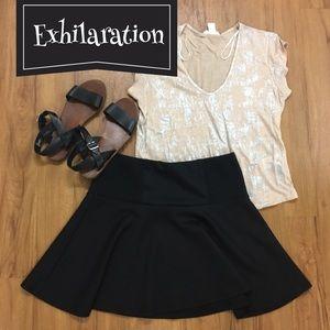 exhilaration Dresses & Skirts - Black Skater Skirt
