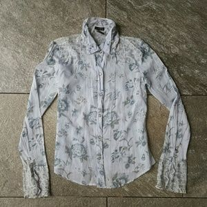 Fang Tops - Floral Button Up