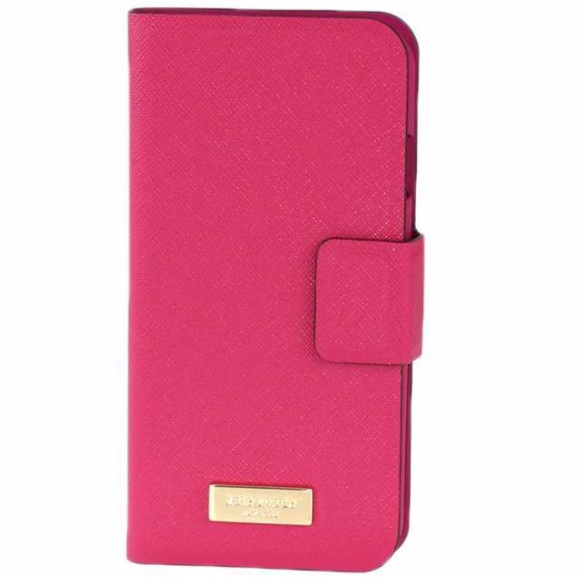 buy popular ab79c 60f1e Kate Spade Leather Wrap Folio IPhone 6 & 6S Case NWT