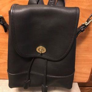 Coach Handbags - Authentic Vintage Leather Coach Black backpack
