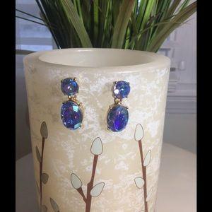 J. Crew Jewelry - J CREW PURPLE IRIDESCENT EARRINGS