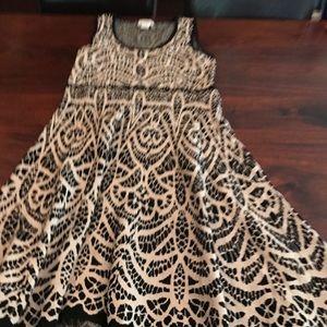 Carmen Mark  Valvo blk/tan knit dress SZL