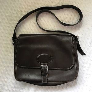 Coach Handbags - COACH Brown Leather Hampton Messenger Bag K1S7750