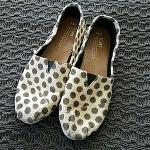 Gold and bronze polka dot Toms