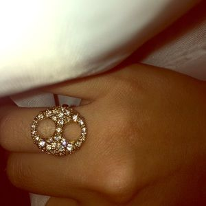 Ann Taylor Jewelry - Gold diamond ring Authentic Ann Taylor