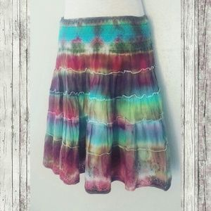 n.d.c. Dresses & Skirts - Fun Tie dyed Boho Skirt