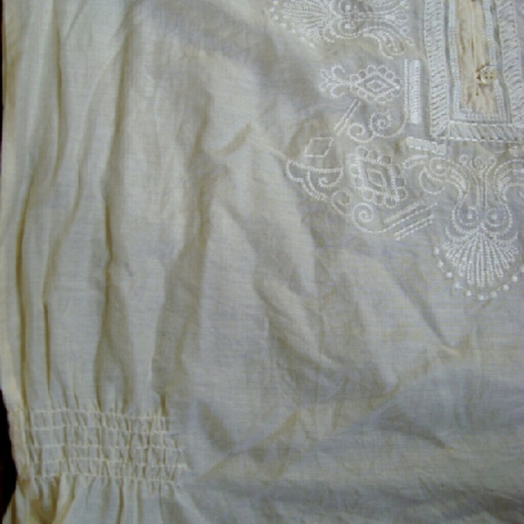 Dress Barn Tops - Embroidered Peasant Blouse
