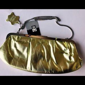 Giani Bernini Handbags - 🍀GIANI BERNINI Lime green LEATHER clutch NWT
