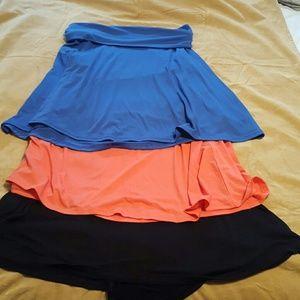 Old Navy Dresses & Skirts - Set of 3 Roll Over Waist Soft Full Skirts