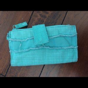 Thirty-One Retro Metro Teal Wallet
