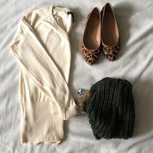 Mango Sweaters - MNG Mango Beige Sweater