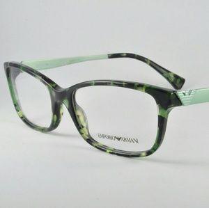 Emporio Armani Accessories - Green Havana Emporio Armani Eyeglass Frames