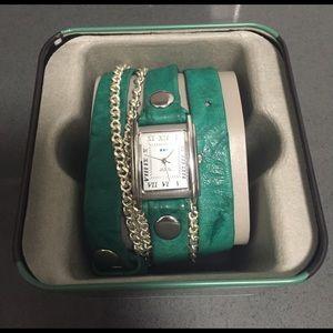 La Mer Accessories - La Mer Collections Teal Wrap Watch