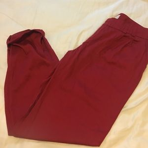 Pants - Red ankle pants