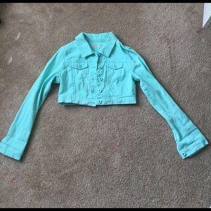 Dollhouse Mint Green Denim Jacket