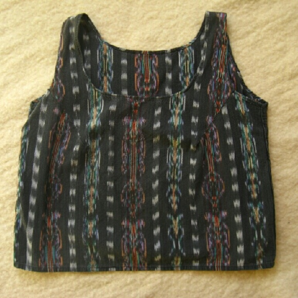 Tops - Sleeveless Guatemalan Ikat Top