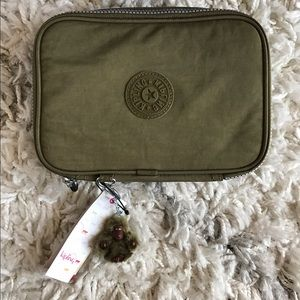 Kipling Handbags - NWT ✨ Kipling 100 Pens Case Military Green