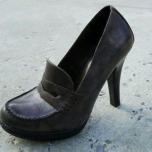 Studio Paolo Shoes - Brown penny platform pumps