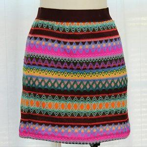 Chelsea & Violet Dresses & Skirts - Chelsea & Violet Embroidered ZigZag Mini Skirt