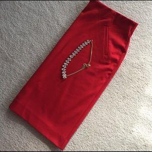 Donna Ricco Dresses & Skirts - Donna Ricco NY Red Knit Skirt